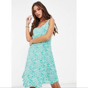 NWT Mint Green Floral Skater Dress